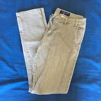 due jeans in denim marrone e blu Lunghezza, 00132