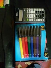 color pen set plastic pack and gray and black Ti-30xa calculator Poughkeepsie, 12601