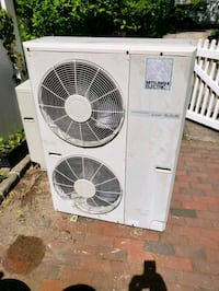 white Arcelik outdoor AC unit Queens, 11363