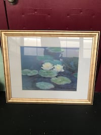 framed painting of lilies  Palmetto, 34221