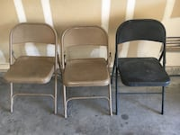 3 metal chairs for $5 Las Vegas, 89139