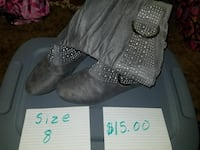 pair of gray leather boots Mankato, 56001