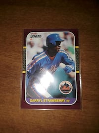 1987 Darryl Strawberry,  gem mint 10