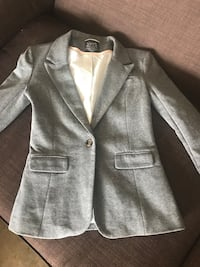 Fitted grey cotton like material jacket in a M Edmonton, T5X 2H8