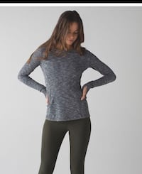 Lululemon Kanto Katch me rulu long sleeve ~ coco pique ~ size 10 Surrey, V4N 6A2