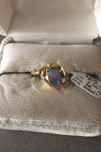 14 carat gold opal ring with diamond Langley, V3A 9J6