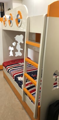 White and Orange Bunk bed Navi Mumbai, 400706
