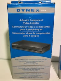 AS-IS DYNEX 4-DEVICE COMPONENT VIDEO SELECTOR (DX-CVS4) - FJN Cambridge, N1P 1E3