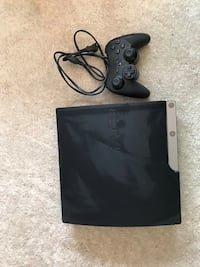 black Sony PS3 slim console with controller Fremont, 94555