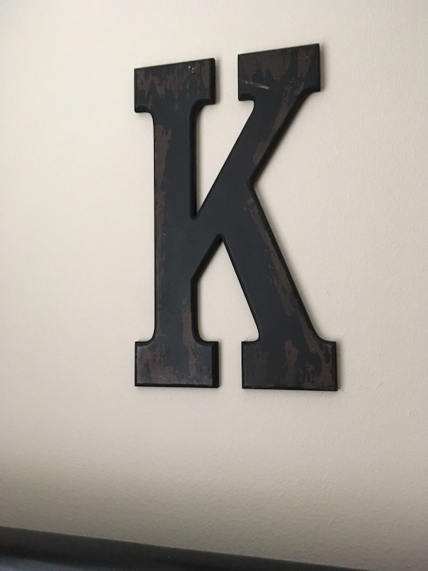 Large Wooden Letter K Wall Decor