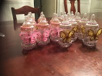Baby bottle decoration or favors for baby shower. Made when ordered. Any color or theme you like. 24 for $40. Salisbury, 28144