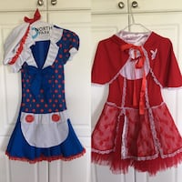 Halloween costumes, Rag Doll and Little Red Roding Hood, $20 each.  Both are a size medium. Size fits a young adult or teen.  Vaughan, L4H 1G4