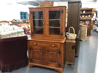 Brown wooden cabinet with hutch Fort Edward, 12828
