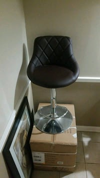 2 in the box dark brown swivel/adjustable stools