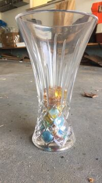 Glass Vase with multi-colored pebbles Franklin, 08873