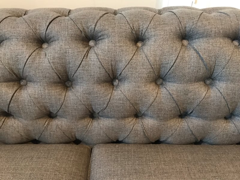 Grey tufted sectional from Wayfair 4