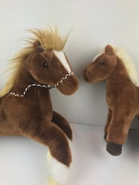 2 new with tags brown horse plush toys Fairfax, 22033