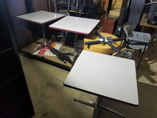 Microscope Desk//Table Stand with Narrow Butterfly Style Base