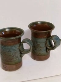 Bill Irvine pottery coffee.cups 8 inches  Burlington, L7R 3P8