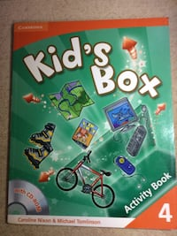 Cambridge Kid's Box Activity Book 4 (orijinal, sıfır, Cambridge movers