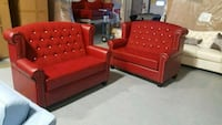 red and brown fabric sofa set Calgary, T3J 0C3
