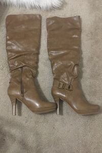 Thigh High Leather Boots-Size 7  Toronto, M4T