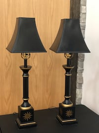 Black w/ Gold Accent Lamp Set Vaughan, L4L 4Z1