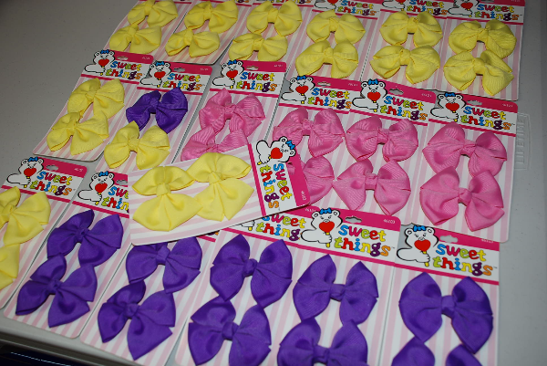 NEW Hairbow, Hair Clips - Pink, Yellow, Violet, barrettes Mississauga, ON, Canada