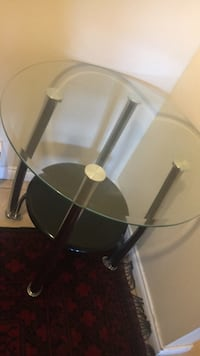 Round glass top table with gray metal basex2 Coquitlam, V3J 1P5