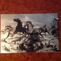 Black and white horse painting Cedar Rapids, 52405