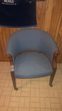 black and gray leather padded rolling chair Berwyn Heights, 20740