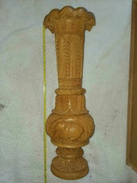 Hand carved wooden vase  Malaga, 98828