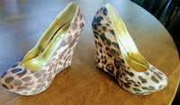 Wedge heel shoes size 8 fits like a 8.5 Leopard  Chico