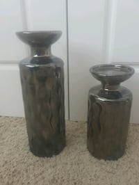 2 Metallic Gray Candle Holders Surrey, V3S 4R4