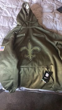 New Orleans Saints salute to service on field hoodie XXL Oxon Hill, 20745