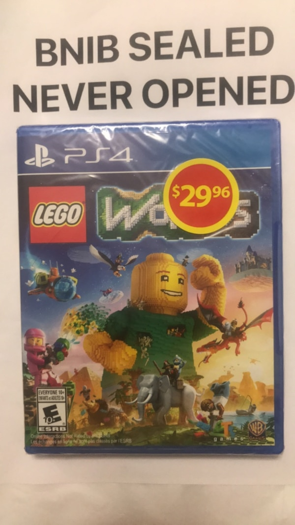 used lego world ps4 game brand new sealed for sale in brampton - letgo