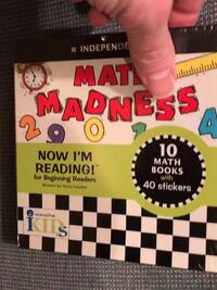 New Math Madness Now I'm Reading 10 math books w/40 stickers Columbia, 21045