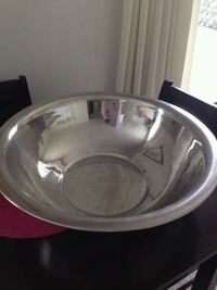 Large heavy silver bowl