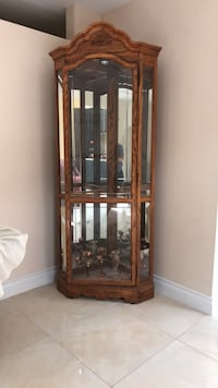 Brown solid wood framed glass d Dearborn Heights, 48127