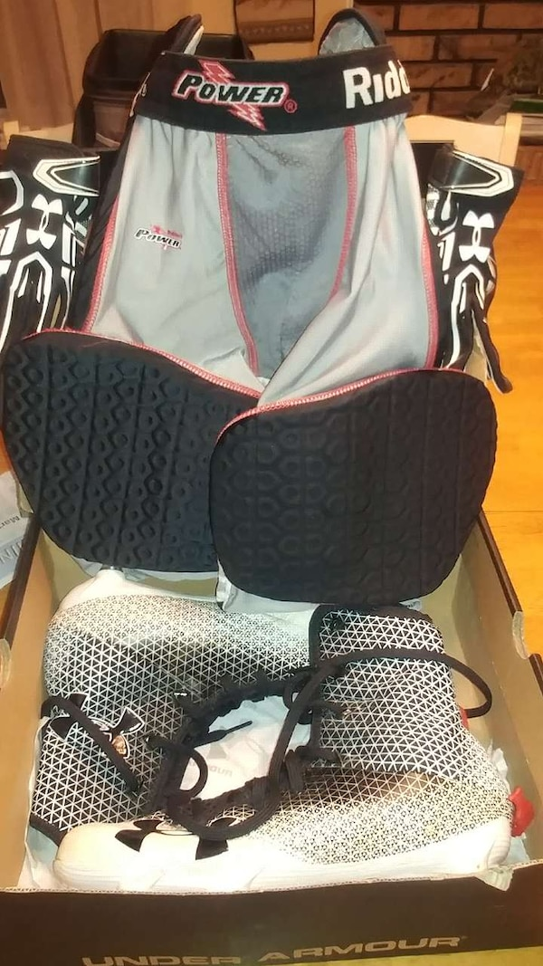 factory outlets hot sale undefeated x Used Boys football cleats/gloves/pad gird. for sale in Ashland ...
