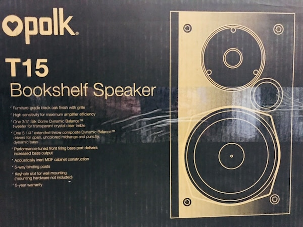 Polk T15 Bookshelf Speaker Box
