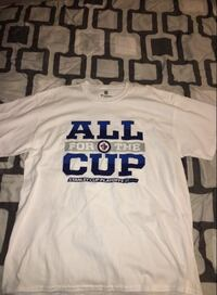 White and blue Men's all for the cup T-shirt  Hamilton, L8W 2T4
