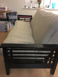 Futon couch with beige cover. Great condition and price is negotiable.  Washington, 20009