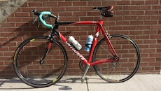 red and black road bike