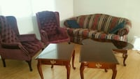 two brown-and-red sofa chairs Martinsburg