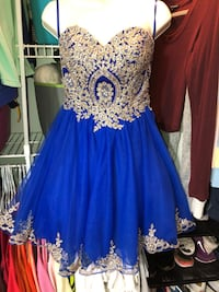woman's royal blue dress size 2 only worn once 552 mi