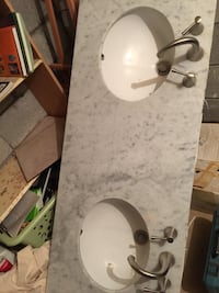 white and black sink with faucet Toronto, M9L 2L2