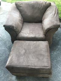 gray suede sofa chair with ottoman Virginia Beach, 23452