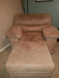 brown suede sofa chair w/ ottoman $100 obo Eastvale