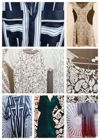 4 Black and White business casual dresses Sz sm